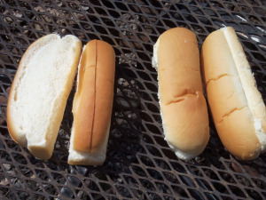 Asked to pick out a hot dog bun, which would you choose -- the ones sliced on the top, at left, or on the side, at right?