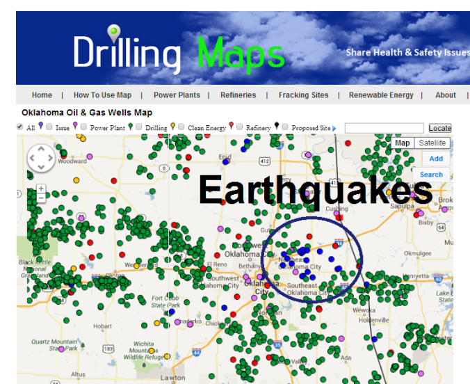 Oklahoma earthquakes from fracking