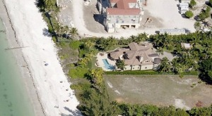 The waterfront home of Rick Scott, 3150 Gordon Drive in Old Naples, on the Gulf of Mexico beachfront.