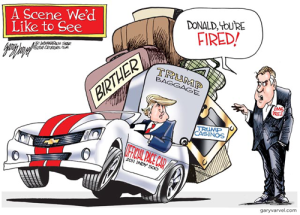 trump fired cartoon