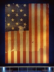 255px-Star_Spangled_Banner_Flag_on_display_at_the_Smithsonian's_National_Museum_of_History_and_Technology,_around_1964